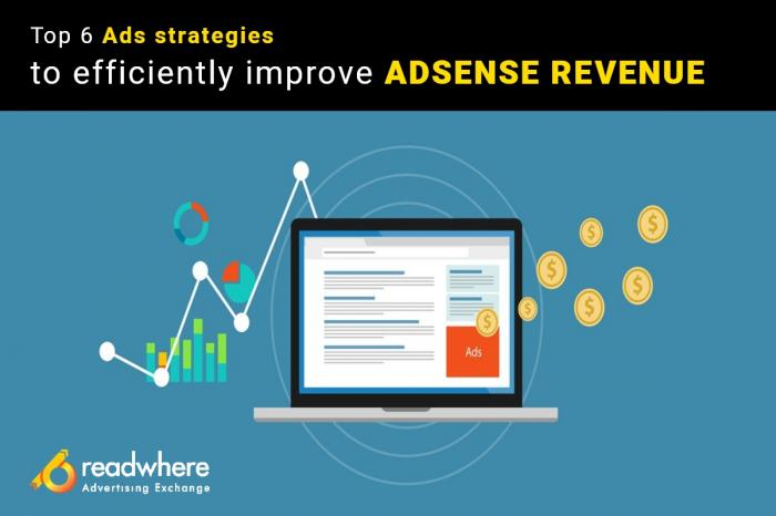 Top 6 Ads strategies to efficiently improve Adsense Revenue