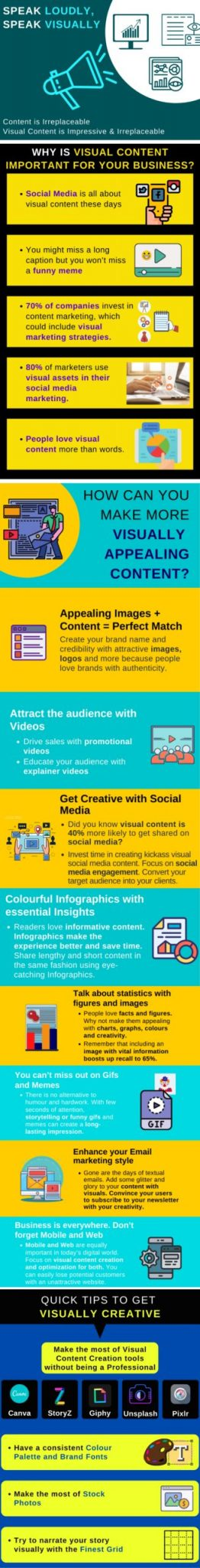 Making Infographics for visually appealing content
