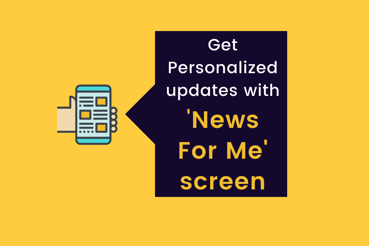 News For Me Screen- Latest Feature by Readwhere CMS